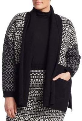 Marina Rinaldi, Plus Size Marina Sport Wool-Blend Cardigan