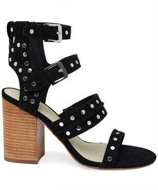 Therapy Piper Heel Micro Suede Black