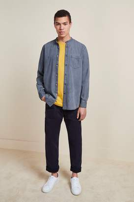French Connenction Monochrome Grandad Collar Denim Shirt
