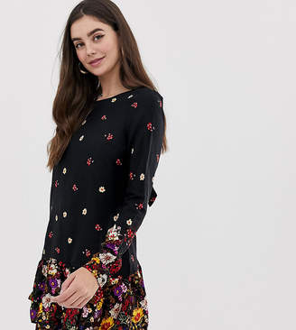 New Look Tall floral border print dress