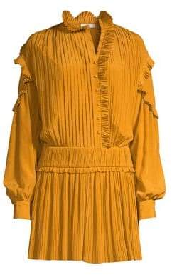 Joie Jazelle Pleated Mini Dress
