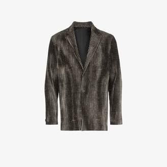Issey Miyake Homme Plissé Homme Plisse check single-breasted blazer
