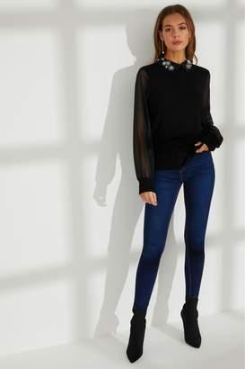 Next Womens Dorothy Perkins Embellished Collar Jumper