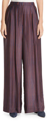 Christian Wijnants Papak Striped Wide-Leg Silk Pants