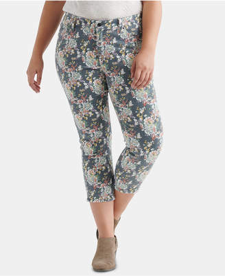 caa4099f8dc Lucky Brand Plus Size Lolita Floral-Print Skinny Jeans