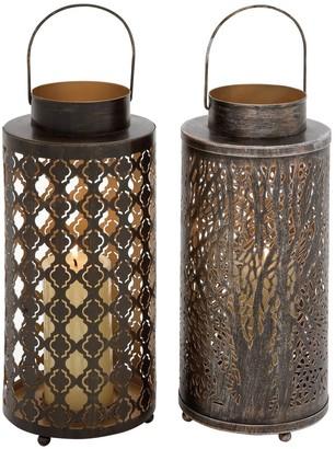 Large Lantern Candle Holder 2-piece Set