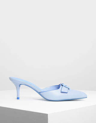 Charles & Keith Buckle Slip-on Heels