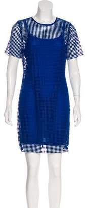 Diane von Furstenberg 2017 Perforated Mini Dress