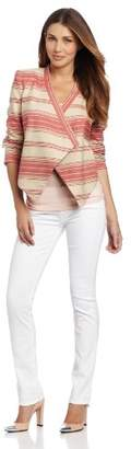 BCBGMAXAZRIA Women's Abbey Cropped Relaxed Jacket