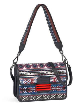 Etro Embroidered Striped Shoulder Bag