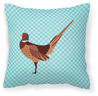 East Urban Home Ring-necked Common Pheasant Check Outdoor Throw Pillow East Urban Home