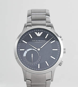 Emporio Armani ART3000 Connected stainless steel bracelet smart watch in  silver 3383c334d6