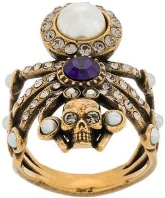 Alexander McQueen embellished spider ring