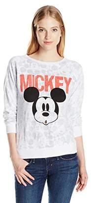 Disney Women's Mickey Women's Interlock Reversible Pullover