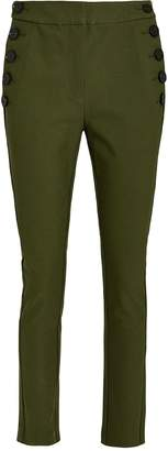 Derek Lam 10 Crosby Cropped Twill Sailor Trousers
