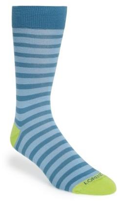 Men's Lorenzo Uomo Stripe Socks $12.50 thestylecure.com
