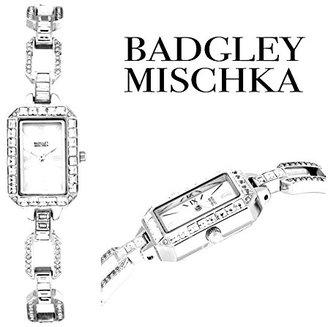 Badgley Mischka レディースBA / 1359mpsvスワロフスキーCrystalステンレススチール時計バンド