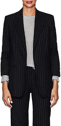 Philosophy di Lorenzo Serafini Women's Pinstriped Cotton-Wool Blazer - Blue