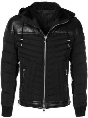 Balmain fur-trimmed padded jacket