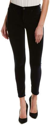 Hudson Barbara Navy Velvet High-Rise Super Skinny Ankle Cut