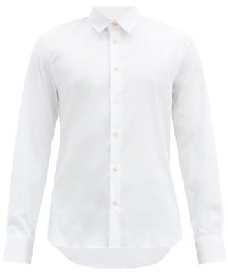 Paul Smith Stretch Cotton Poplin Shirt - Mens - White