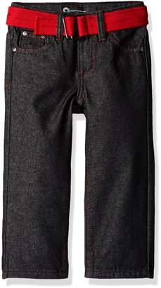 Akademiks Kids Boys' Big Boys' 5 Pocket Belted Jeans