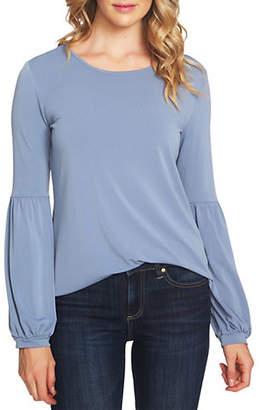 CeCe Scarlet Dream Knit Puffed-Sleeve Top