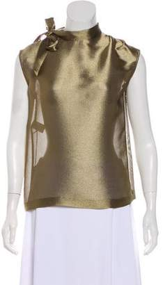 Alberta Ferretti Semi-Sheer Sleeveless Top w/ Tags