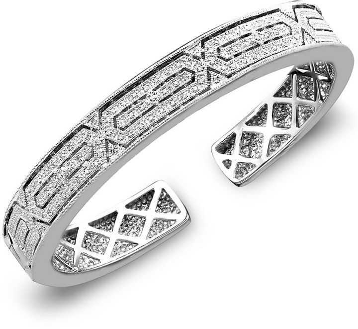Diamond Bangle Bracelet in Sterling Silver (1/4 ct. t.w.)