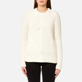 Gant Women's Chevron Rib Crew Neck Jumper