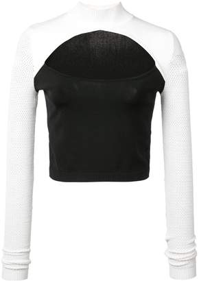 Fleur Du Mal cut out knit top