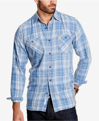 Weatherproof Vintage Men Plaid Flannel Shirt