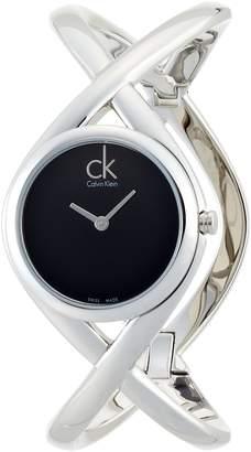 Calvin Klein Women's K2L24102 Enlace Analog Display Swiss Quartz Silver Watch