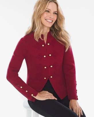 Chico's Chicos Military-Style Sweater Jacket
