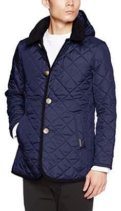 Lavenham [ラベンハム キルティングフードジャケットLAVENSTER DENSTON3-M-POL メンズ ブルー UK 40 (日本サイズL相当)