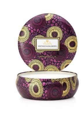 Voluspa 3-Wick Decorative Tin Candle - Santiago Huckleberry