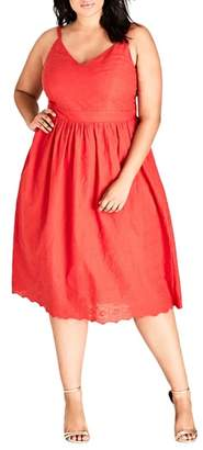 City Chic Mon Cheri Fit & Flare Dress