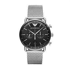 Emporio Armani Aviator Silver Watch