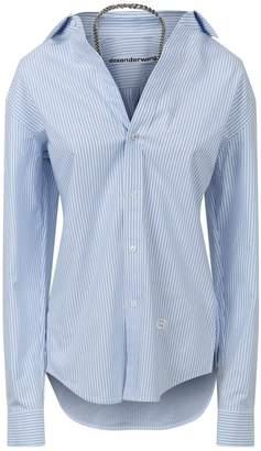 Alexander Wang Chain Detail Stripe Shirt Dress