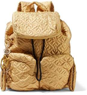 See by Chloe Metallic Quilted Shell Backpack