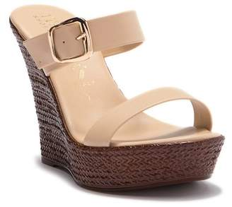 Italian Shoemakers Rosy Slip-On Wedge Heel Sandal