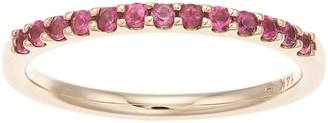 Boston Bay Diamonds 14k Gold Pink Tourmaline Stack Ring