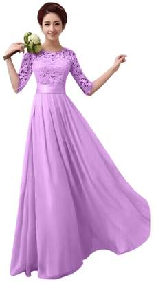 IBTOM CASTLE Women Long Lace Bridesmaid Formal Dress Cocktail Evening Party Ball Prom Gown XXXL