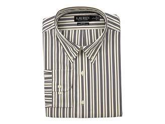Lauren Ralph Lauren Slim Fit No-Iron Multi-Stripe Poplin Dress Shirt