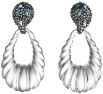 Alexis Bittar Crystal Encrusted Ombre Paisley Earrings