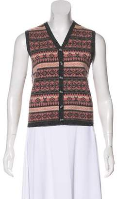 Pendleton Sleeveless Knit Cardigan