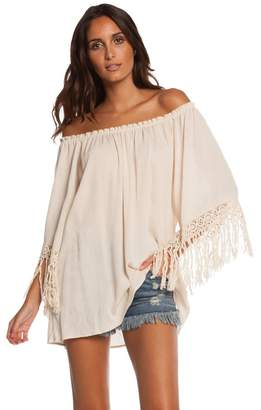 Elan International Off-Shoulder Boho Tunic