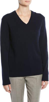 Ralph Lauren V-Neck Long-Sleeve Cashmere Sweater