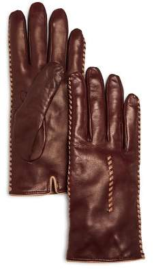 Bloomingdale's Cashmere Lined Whipstitch Leather Gloves - 100% Exclusive