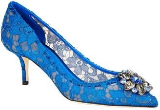 Dolce & Gabbana Lace Rosa Embellished Pumps 65